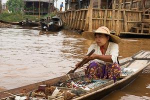 lac Inle marché flottant