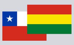 drapeau Chili et Bolivie