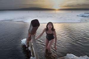 sauna lac glacé