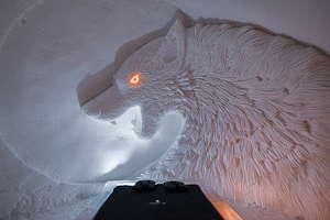 snow village loup blanc