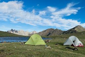 rando bivouac-Lauzet lac de la mine